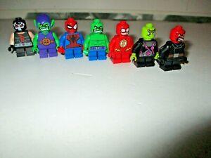 Lego Super Heroes Bundle BANE, SPIDERMAN, GREEN GOBLIN, HULK etc (Genuine Lego)