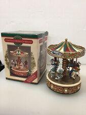 Vintage SMALL Mr Christmas Carousel Merry-Go-Round Music Box Plays 12 Carrols