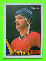 1987-88 O-Pee-Chee Stephane Richer RC Rookie Hockey Card #233 Montreal Canadie