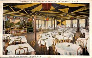 BELLEVILLE NEW JERSEY GARDENS CLUB INTERIOR VIEW POSTCARD BY SOLIMENE, PATERSON