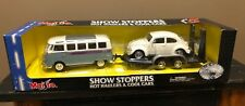 MAISTO - Diecast GRAY/WHITE 1:25 Volkswagen Samba Van & WHITE 1:24 VW Beetle
