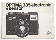 Bedienungsanleitung Anleitung instruction Agfa Optima 335 electronic sensor