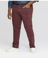 Goodfellow & Co Men's Regular Straight Fit Chino Pants Garnet Rose 60x30 New NWT
