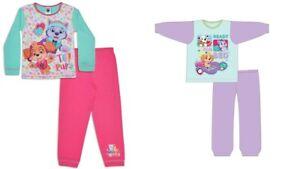Girls Kids Paw Patrol Skye Pyjamas Long Sleeve Nightwear PJs Cotton Pink PJs
