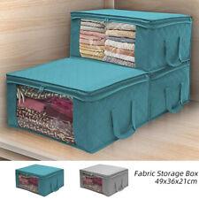 3PCS Underbed Clothes Storage Boxes Bags Zipper Organizer Wardrobe Cube Closet