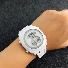 New Fashion Stainless steel Scrub Wristwatch Electronics Bear Watch white D09
