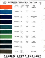 1936 1937 1938 1939 - 1955 CHEVROLET GMC FORD DODGE INTERNATIONAL PAINT CHIPS BR