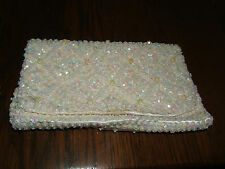 Hand Made in Hong Kong Sequined Beaded Evening Handbag Clutch Purse (New)
