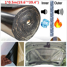 1*0.5m Car SoundProofing Sound Deadening Heat Insulation Foam 10mm Self-adhesive