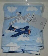 Carter's Take Flight Baby Blanket Airplane Clouds
