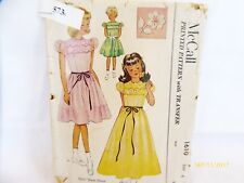 Vintage McCall 1610 Childs Dress with embroidery Transfer Pattern   4