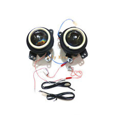 Bifocal Lens Fog Lamp Assembly Angel Eye Rings DRL for Jeep Dodge Chrysler Fiat