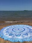 """Indian 46"""" Mandala Beach Rug Throw Bohemian Tapestry Roundie Yoga Mat-[;"""