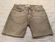 NWOT $178 CURRENT/ELLIOTT THE SLOUCHY CUT-OFF SHORTS FADED ARMY GREEN SIZE 32