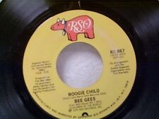 "BEE GEES ""BOOGIE CHILD / LOVERS"" 45  MINT UNPLAYED"