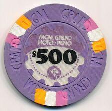 MGM Grand Reno $500 Casino Chip 1978