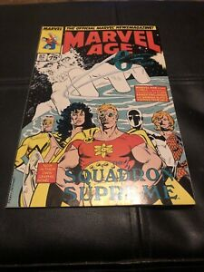 Marvel Age #82-1989 VF- 7.5 Rob Liefeld 1st Cable cameo / X-Men New Mutants
