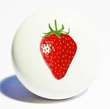 STRAWBERRY  HOME DECOR CERAMIC KNOB DRAWER CABINET PULL