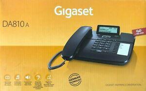✅Gigaset DA810A schnurgebundenes Telefon Anrufbeantworter Display schwarz ✅