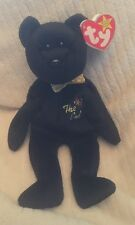 """EXTREMELY RARE Ty Beanie Baby """"The End"""" Bear with Multiple Errors, Flat Tush Tag"""