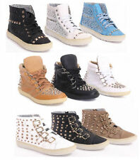 Buckle Wedge Synthetic Leather Trainers for Women