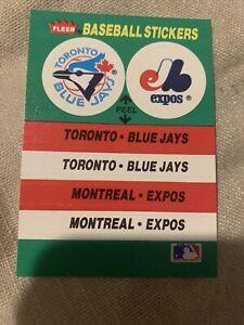 Dual Team Sticker Set Card Baseball Field Blue Jay's Expos
