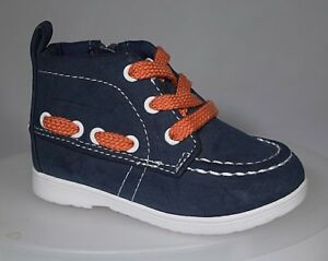 NEW H & M Navy Blue, White, Orange Zip Boots for Toddler Size 3C H&M (EUR 18-19)