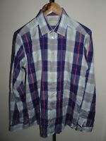VGC* ETON Mens Slim Fit Shirt Blue Long Sleeve Button Cuff SIZE MEDIUM M 15.5""