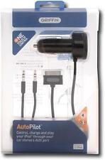 Griffin AutoPilot Charger w/Remote & AUX Cable for iPhone/iPod w/30-Pin Dock NEW