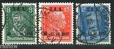 Dt. Reich Arbeitsamt-Tagung 1927 Michel 407-409 (S8888)