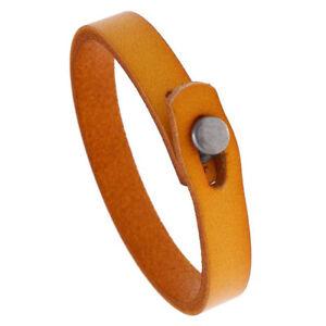 Men Boy Genuine Leather Bracelet Bangle Wristband Clasp Surfer Wrap Cuff Jewelry