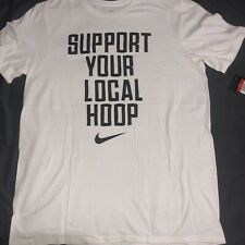 Nike Support Your Local Hoop Swoosh Basketball - Vintage Rare White T-Shirt D728