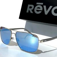 6fcd8b5b702 NEW  REVO PEAK Chrome Aviator Squared POLARIZED Blue water Sunglass 5022 03  BL