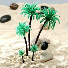 """14pcs Assorted Mixed Size Coconut Palm Trees Model 2""""-7"""" Train Rain Forest 1 50"""