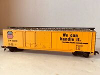 HO Railroad Freight Train Yellow Box Car Union Pacific We Can Handle It Vintage