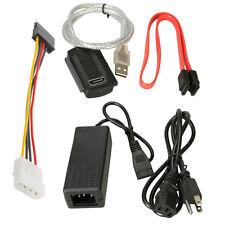 USB 2.0 to IDE SATA S-ATA 2.5 3.5 HD HDD Hard Drive Converter Adapter Cable CA