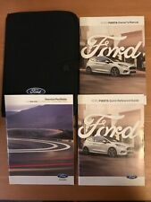 FORD FIESTA 2018 FULL HANDBOOK OWNERS MANUAL PACK WITH SERVICE BOOK