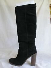 NEW COACH SUEDE BOOTS KNEE HIGH BLACK WOMAN SHOES SIZE 6B