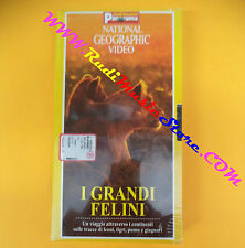 film VHS I GRANDI FELINI National geographic sigillata PANORAMA (F104) no dvd