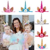 Toddler Birthday Headband Ribbon Baby Headdress Kids Girl Lace Flower Hair Band
