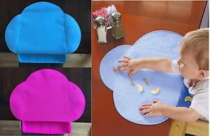 Baby Toddler Dining Table Placemat Non Slip Feeding Mat with Food Catcher