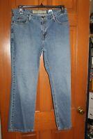 Eddie Bauer Women's Size 12P Jeans Mid Rise Medium Wash Boot Cut EUC