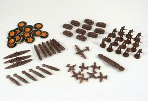 Axis & Allies Game Pieces Russian Ships Troops Tanks Planes Markers MB ©1984-87