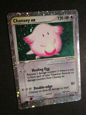 PL Pokemon CHANSEY EX Card RUBY and SAPPHIRE Set 96/109 Rare Holo PLAYED AP#1