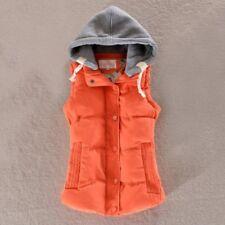 Winter Women Slim Down Cotton Warm Coat Jacket Sleeveless Hooded Vest Waistcoat