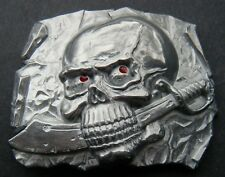Ax Evil Belt Buckle Buckles Pirate Pirates Skull Skeleton Sword