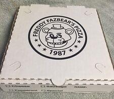 "FIVE NIGHTS AT FREDDY'S 8"" PRINTED Pizza box FNAF Birthday Party Favors Loot Bag"