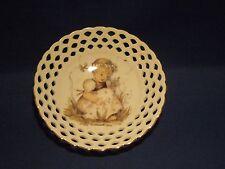 Vintage Mi Hummel Goebel Reutter Porcelain Pierced Dish Lily of the Valley