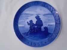 1958 Royal Copenhagen Christmas Plate Sunshine over Greenland Mint Condition