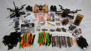 FPV Racing Drones x 3: Lumeneir QAV 250, ZMR250, Hermit Micro + Lots of parts.